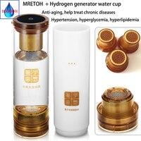 Efeito de Ressonância Molecular Tecnologia/MRETOH + gerador De Hidrogênio de transmissão Sem Fio USB Recarregável H2 jade Branco xícara de água