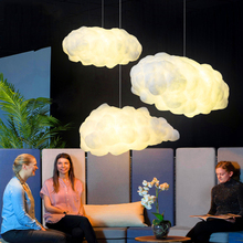Modern LED Cloud Pendant Light Lighting Bedroom Living Room Restaurant Interior Decor Lighting LED Pendant Lamp Kitchen Fixtures acrylic dangling led living room lighting romantic restaurant pendant light warm bedroom modern minimalist fg778