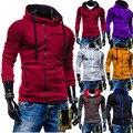 New hot estilo edição han de 2015 invernos do outono de flanela com capuz zipper lazer cultivar a moralidade do velo dos homens jaqueta