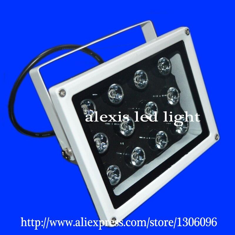 LED lumières 15 W IR 850-950nm lumière blanche 3000 K à 6000 K contrôle de la lumière 100 M 12 V, 24 V, 220 V, IP65 éclairage LED lampe extérieure