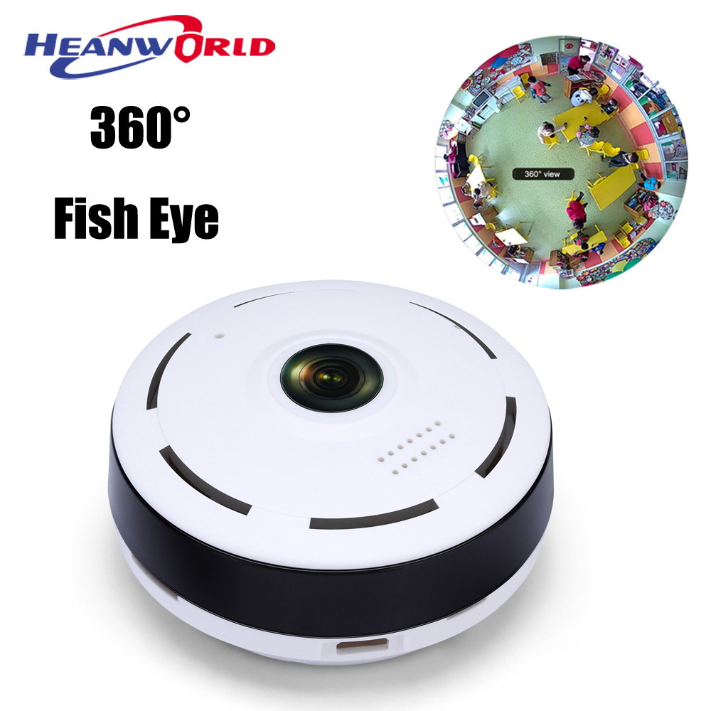 Newest Panoramic Fish Eye IP Camera Wifi Wireless 360 degree Wide Angle lens HD 1.3MP 960P WiFi Cameras Microphone & SD Record panoramic hd 2mp megapixel 1080p ip network 180degree fish eye lens wide angle onvif p2p camera