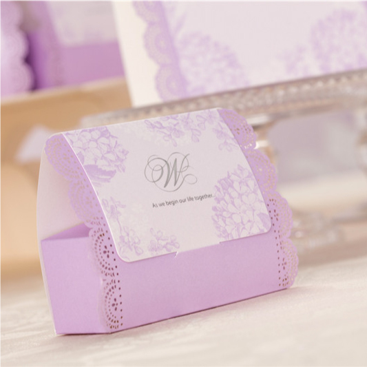 Romantic Lavender Color Wedding Gift Bags Candy And Gift Boxes