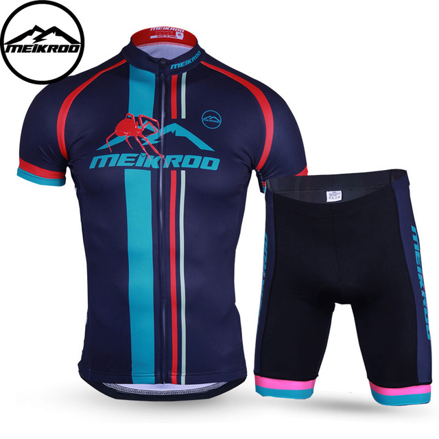 MEIKROO Spider Summer Style Cycling Jersey Ropa Ciclismo MTB Bike Clothing  Maillot Bicycle Clothing Mens Racing 3D Pad Shorts se 3326292ee