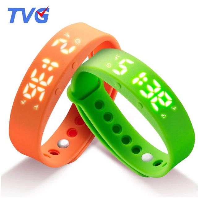 Moda Deportiva Reloj LED Hombres Reloj Digital TVG Marca Podómetro Reloj Del Mens Ajustable de Silicona Correa de Reloj Reloj A Prueba de agua