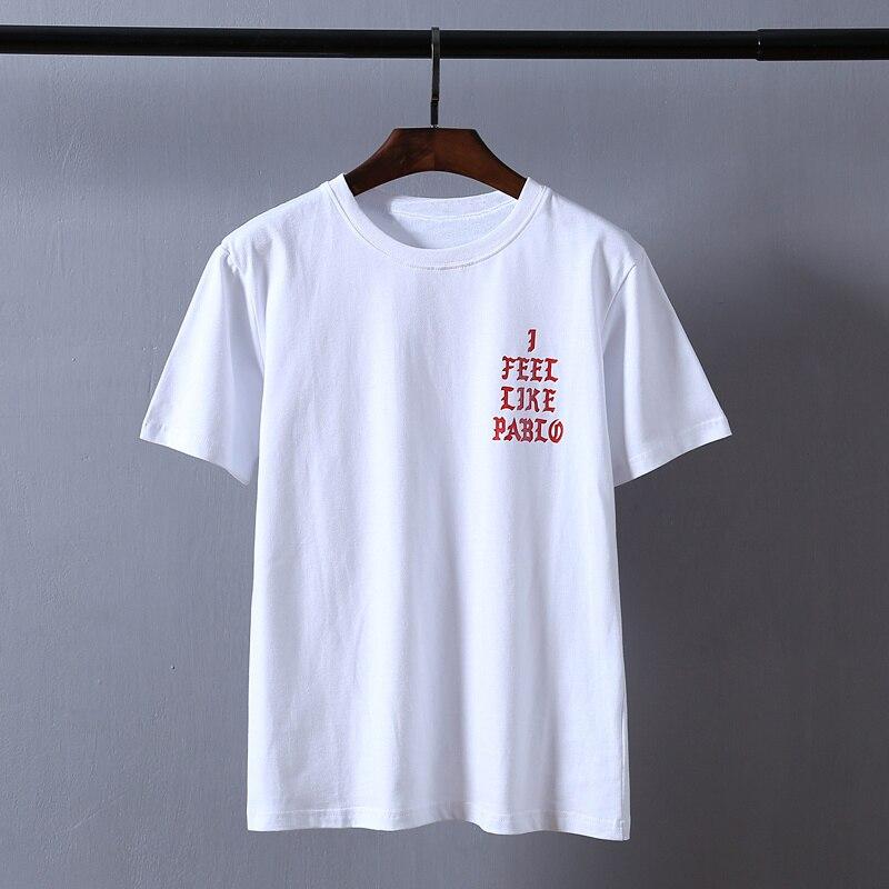 Kanye West Pablo T Shirt Men I Feel Like Paul Print Short Sleeves Anti Season 3 T-Shirt Hip Hop Social Club Rapper Tee Tops