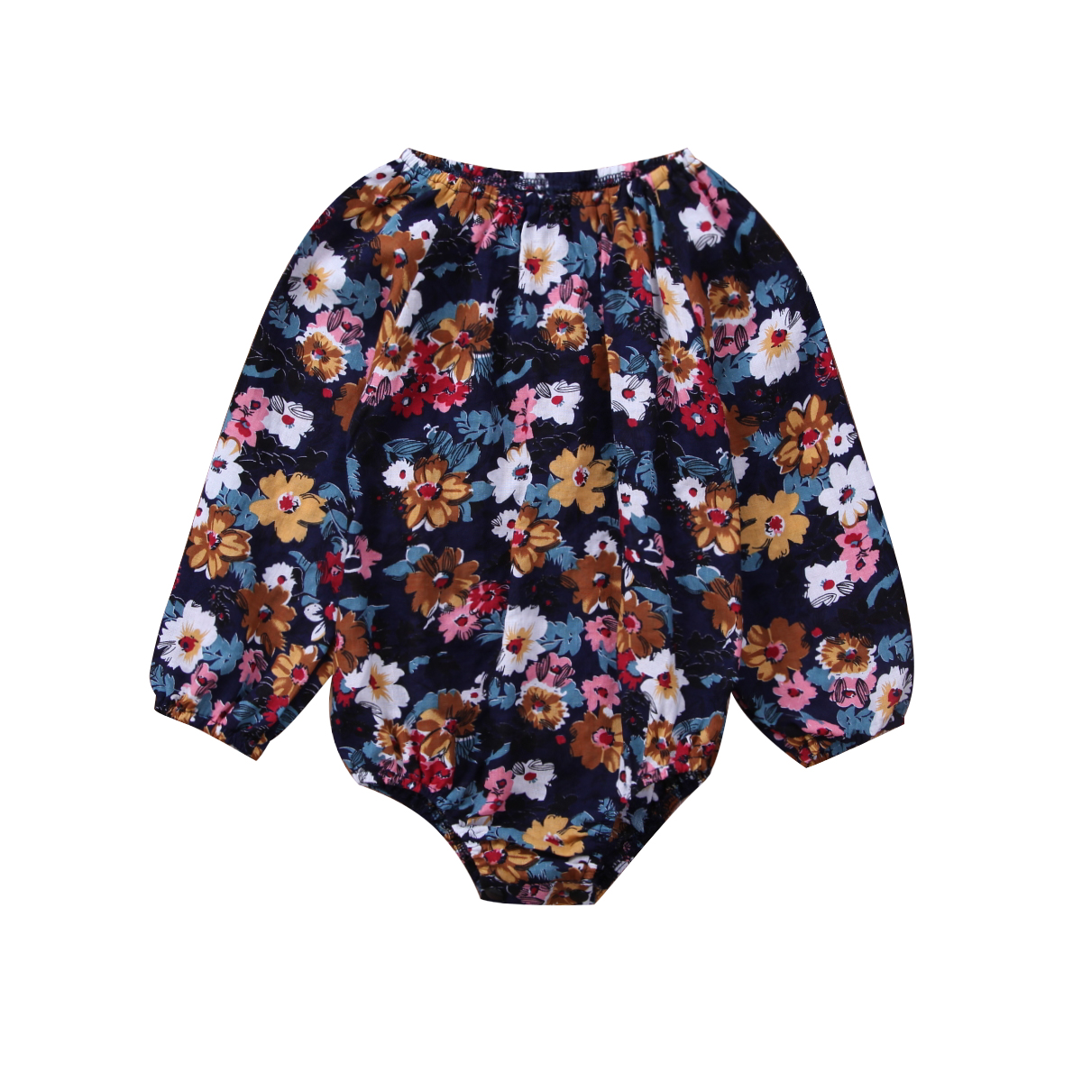 Pudcoco Cute Newborn Baby Girls Floral Clothes Infant girls Long Sleeve   Romper   Jumpsuit Vintage baby Girls Clothing Outfits