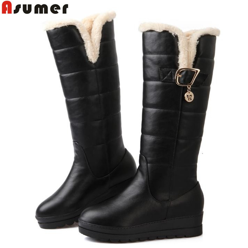 plus size 2015 new russia keep warm snow boots platform