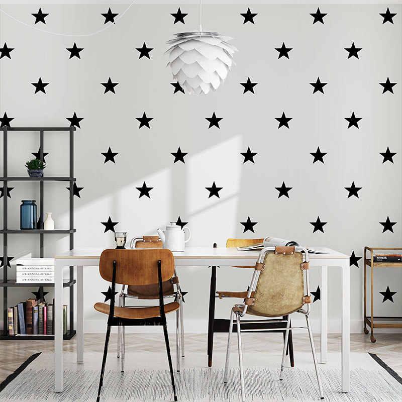 Black White Star Baby Nursery Wallpaper