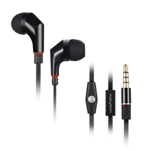 Wallytech WHF-111 Flat TPE Cable in-ear Earphones with Microphone and ON/OFF button with switch for iPhone HTC