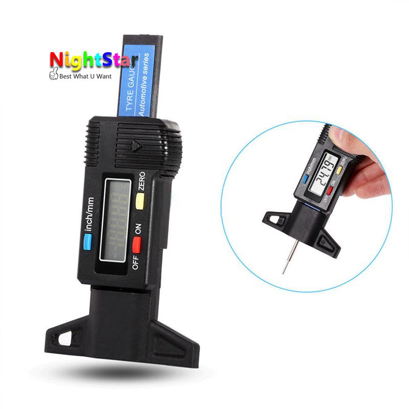 Digital depth gauge caliper tread depth gauge LCD Tyre tread gauge For Car Tire ...