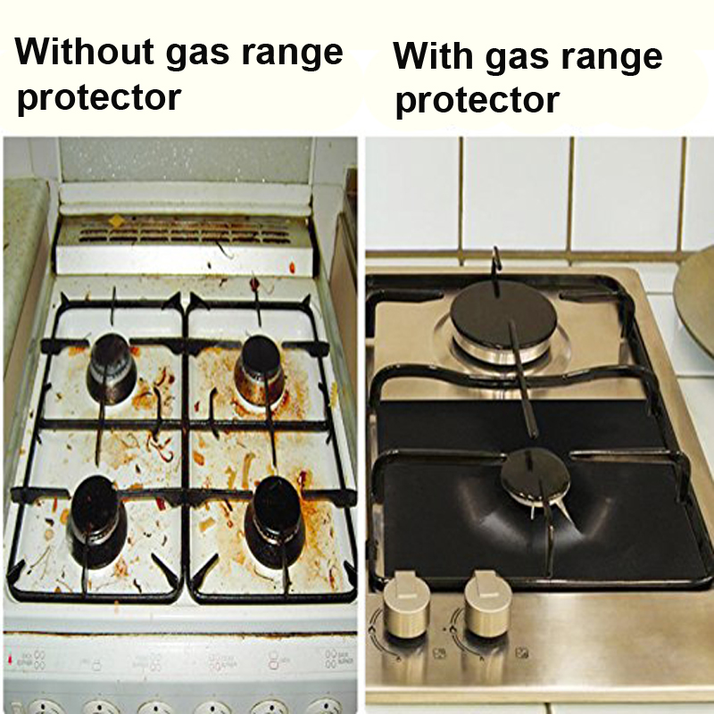 2pcs/set Gas Stove Cooker Protectors Cover/Liner Clean Mat Pad Gas Burner  Covers Stovetop Protector Kitchen Accessories In Cooking Tool Sets From  Home ...