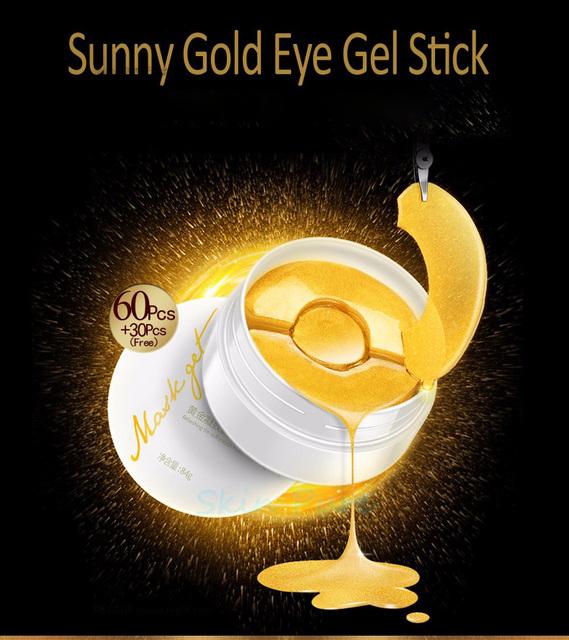 2 Unids/lote PRONTO Aquagel Eterna Sueño Máscara de Ojo Del Colágeno de Oro PURO máscara Parches en Los Ojos Ojeras Máscara Para La Cara Cuidado de La Piel blanqueamiento
