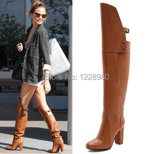Aliexpress.com : Buy New Ladies Ora Over the Knee Boots Chunky ...