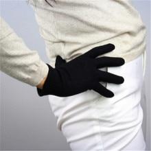 Wool Gloves Woolen Five Fingers Black Female Autumn Winter Short Style Elasticity Thicken Warm Knitted Woman TB102