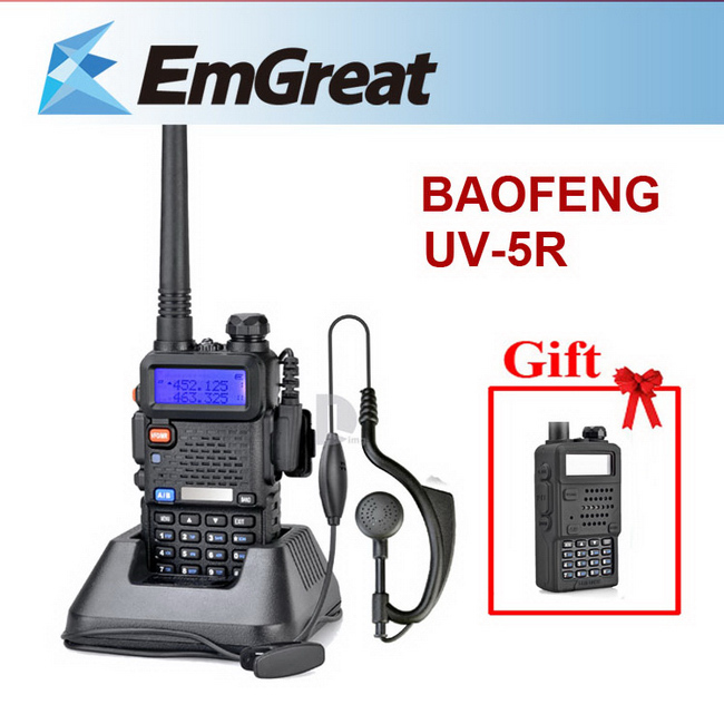 Original BAOFENG UV-5R UV5RTwo Way Radio Walkie <font><b>Talkie</b></font> with 1800mAH Battery + Rubber Case Cover as Gift