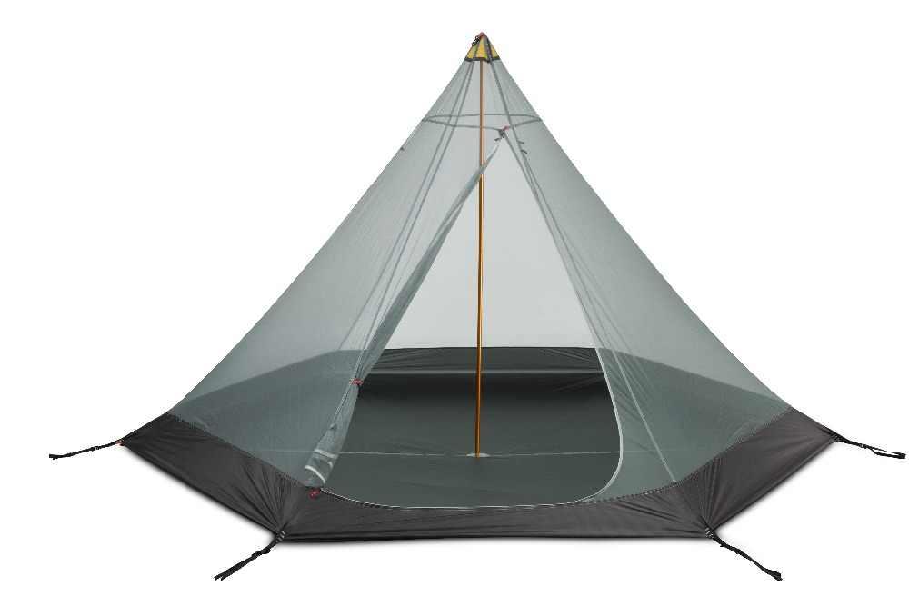 3F UL GEAR CangYuan3 silicium revêtement 2-3 personnes 3 saisons couture scellée pyramide Camping tente pas de poteaux haute et basse suspendus