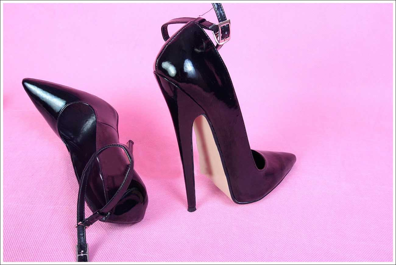 Aliexpress.com : Buy 18CM Heel Height Sexy Pointed Toe Stiletto ...