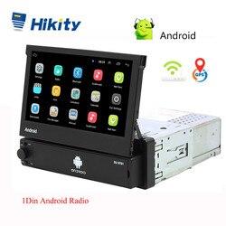 Hikity Android 8.1 Auto Radio Intrekbare GPS Wifi Autoradio 1 Din 7 ''Touch Screen Auto Multimedia MP5 Speler Ondersteuning camera