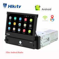 Hikity Android 8.1 Auto Radio Versenkbare GPS Wifi Autoradio 1 Din 7 ''Touchscreen Auto Multimedia MP5 Player Unterstützung Kamera
