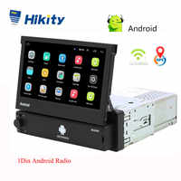 Hikity Android 8.1 Car Radio a Scomparsa Gps Wifi Autoradio 1 Din 7 ''Touch Screen Car Multimedia MP5 di Sostegno Del Giocatore macchina Fotografica