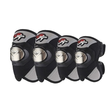 Free shipping 1Set/4Pcs Motorcycle Knee Elbow Pads Motorbike Stainless Steel Armor Brace Guard Protector