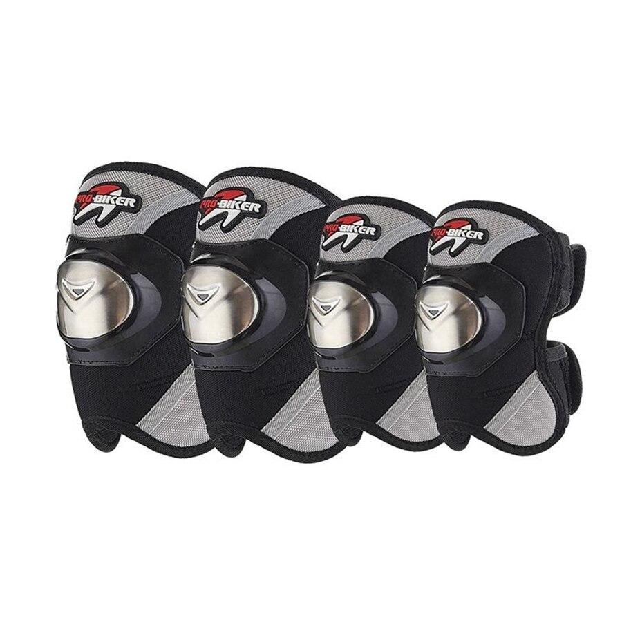 Livraison gratuite 1 Set/4 pièces Moto Protège-coudes Moto D'acier Inoxydable D'armure Brace Garde Protecteur