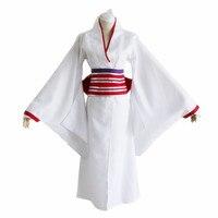 Brdwn Noragami womens Nora Hine cosplay Costume kimono bathrobe suit(kimono+bowknot+Belt+hairwear+oversleeve)