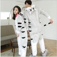 Hot 2016 New Unisex Adult  Pajamas Anime Flannel warm Onesie Sleepwear cheese cat Pajamas