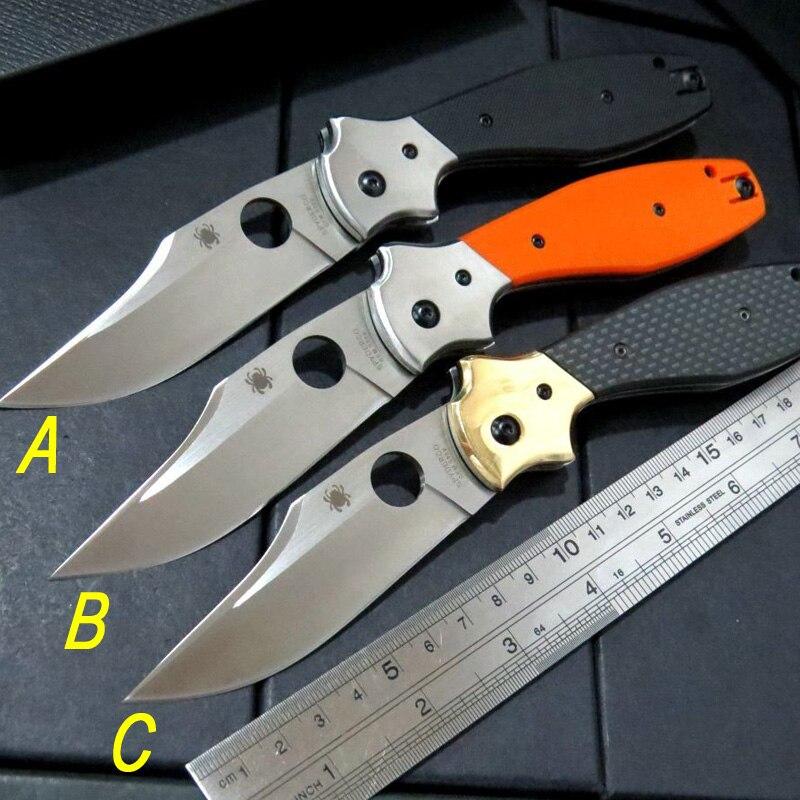 Carbon Fiber Handle Spyder Folding c190 font b Tactical b font font b Knife b font