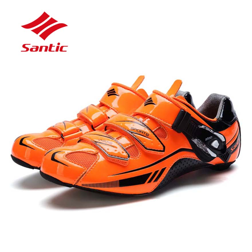 все цены на Santic Cycling Shoes Men Road Ultralight Carbon Fiber Road Bike Shoes Athletic Self-Locking Bicycle Shoes Sapatilha Ciclismo онлайн