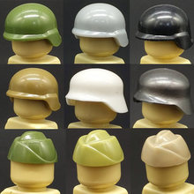City Military Soldiers Weapon Accessory Building Blocks Brick WW2 Helmet SWAT Cap Police Figures Hat Toys Compatible LegoINGlys(China)