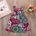 Hot Moda Vestidos de Festa Meninas Bonitos do Bebê Da Criança Verão Tutu Roupa Dos Miúdos Da Princesa Vestido Floral