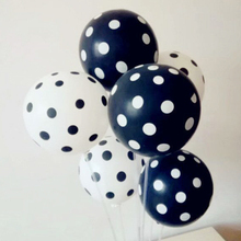 Black wave point balloon 50pcs/lot 12inch 2.8g round latex white balloons birthday home decoration ballon wedding supplies