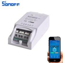Sonoff Pow Беспроводной дистанционного управления Wi-Fi переключатель ON/OFF 16A с Мощность измерения потребления для бытовой техники IOS Android