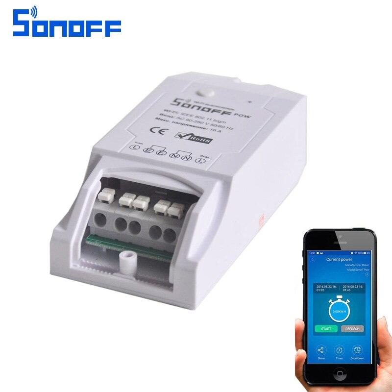 Sonoff Pow Wireless Remote control WiFi Switch ON/Off 16A