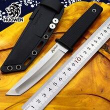Outdoor survival mes tactische koude rvs vaste messen TANTO Japan Katana blade ABS handvat EDC duiken tool cs gaan faca