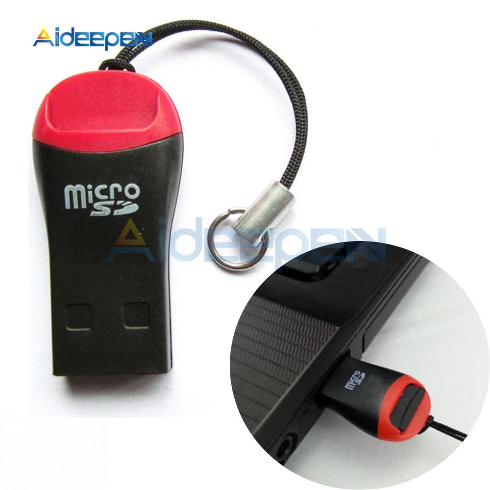 10Pcs USB 2.0 Micro SD SDHC TF Flash Memory Card Reader Mini Adapter For Laptop