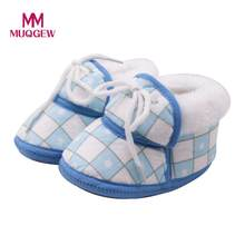 MUQGEW Newborn Baby Girls Boys Cartoon Plaid Print Shoes Footwear Crib Footwear Crib Shoes kids shoes Sneakers for children(China)
