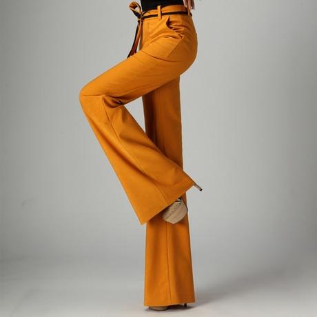 2016 Women Flare Pants Wide Leg Long Trousers Office Lady OL Slim Flared Pants Business Women