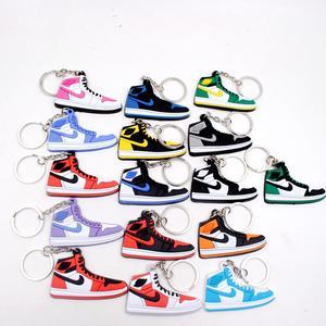 7822b121fa2c7c 1PCS Lot Cartoon Jordan Shoes Metal Keychain Kids Baby Toys