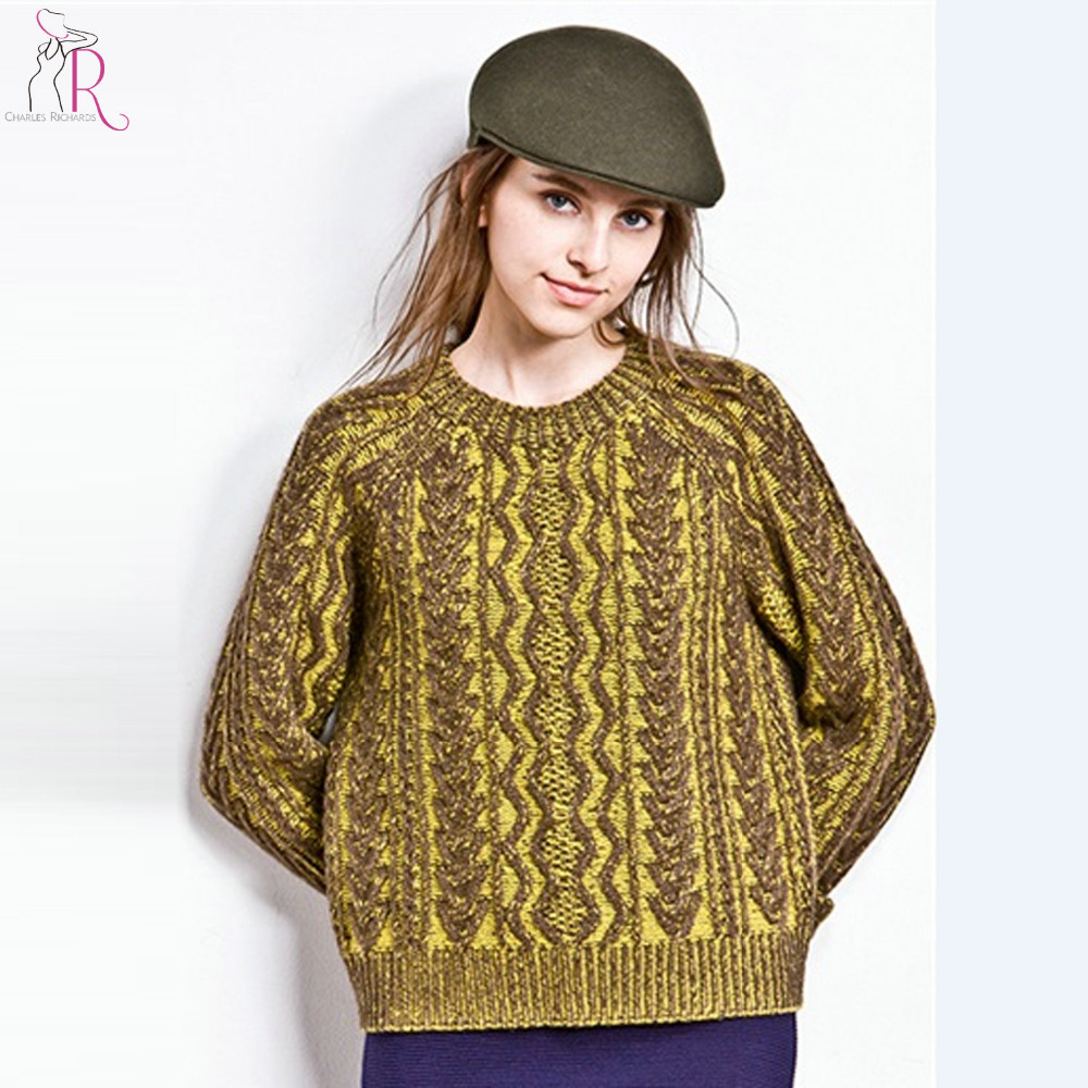 Aliexpress.com : Buy Women Long Sleeve Chunky Cable Knitted ...