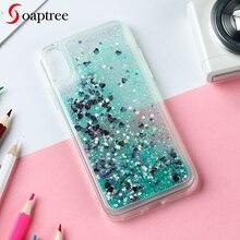 Soaptree Soft TPU Phone Case For Samsung Galaxy J4 2018 S10 J6 J8 Glitter Liquid Dynamic Sand Back