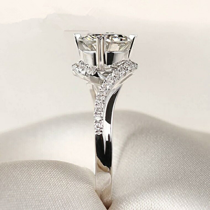 YINHED Elegant Solitaire Ring Genuine 925 Sterling Silver Wedding - Fashion Jewelry - Photo 3