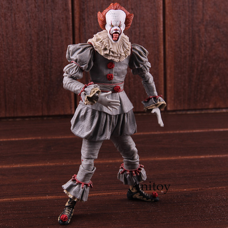 цены на Stephen King's It Pennywise Action Figure NECA PVC Horror Movies Toys Collectible Model Toy в интернет-магазинах