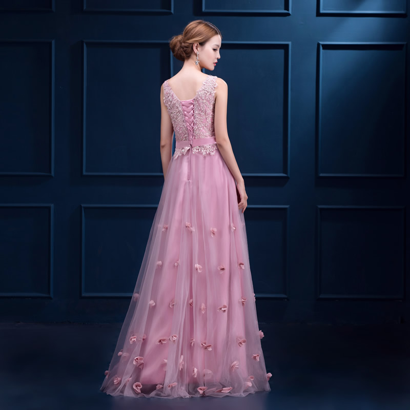 4b0cc58c1 Beauty Emily sweet V neck Evening Dresses High Quality Pink Tulle With  Applique Homecoming Dress Real Photo Vestido De Festa-in Evening Dresses  from ...
