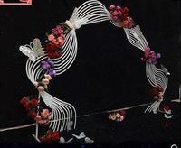 Верховая езда ветер и утюжок для закручивания curvilinear волнистые ware мебель свадебная церемония вход сводчатое окно фотографии подставка для