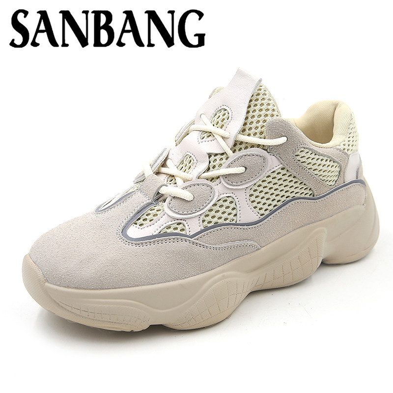 Fashion Casual Shoes Woman Air Mesh Grils Wedge Tenis Feminino Zapatos Mujer Female Plat ...