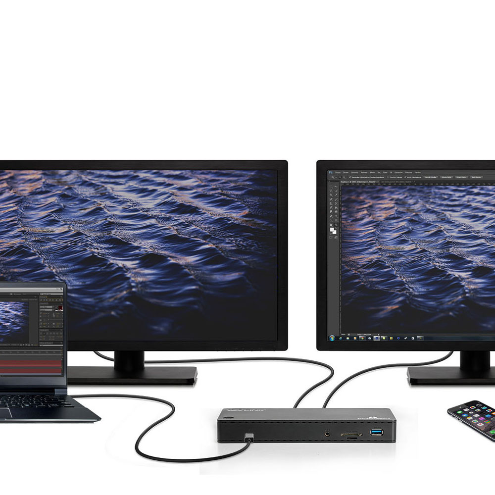 Image 5 - Wavlink thunderbolt 3 docking station 4k @ 60 hz displayport usb 3.0 85 w gigabit ethernet de carregamento para macbook pro intel certificadoEstação de carga p/ laptop   -