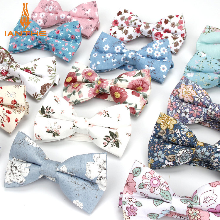 Fashion New Floral Bow Ties Cotton Print Bowtie Neckties For Men Wedding Party Business Suits Gravata Colorful Butterfly Cravats