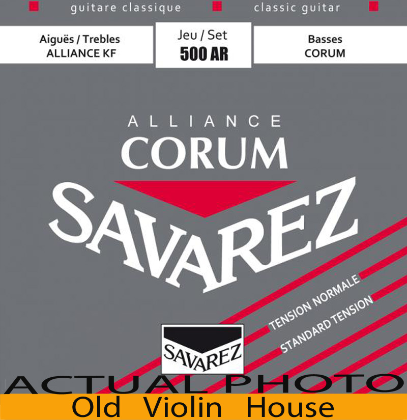 Original Savarez 500AR Classical Guitar Strings, Full Set  ,Normal Tension,Free Shipping! classical guitar strings set cgn10 classic nylon silver plated normal tension 028 045 classical guitar strings 6strings set
